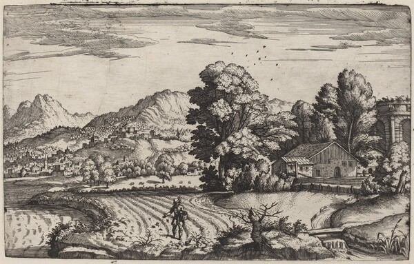 Mountainous Landscape with the Parable of the Sower