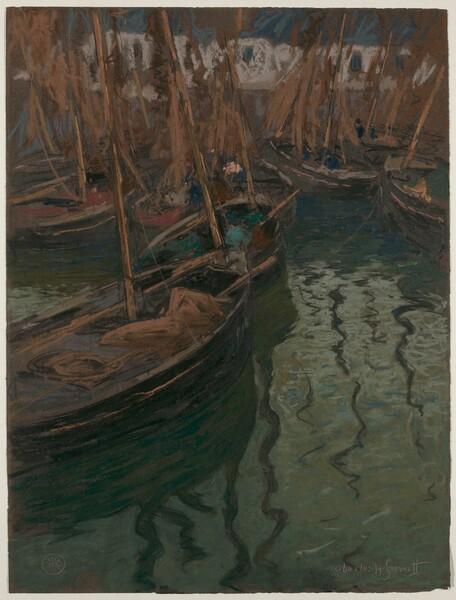 A Dock Harmony--Fishing Boats