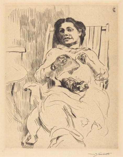 Frau mit Handarbeit (Woman with Needlework)