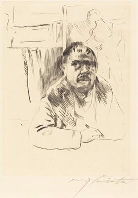 Self-Portrait in a Fur Coat (Selbstbildnis im Pelz)