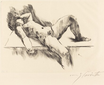 Reclining Female Nude - III (Liegender Weiblicher Akt III)