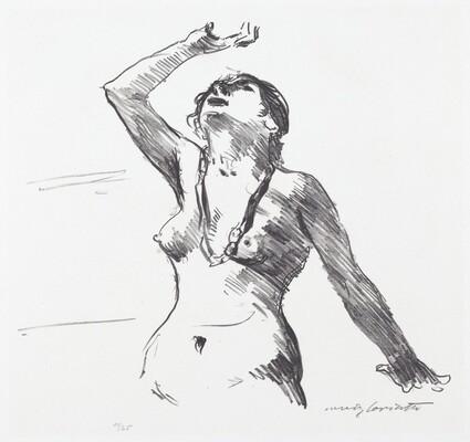 Female Nude Defending Herself (Weiblicher Akt in Abwehr)