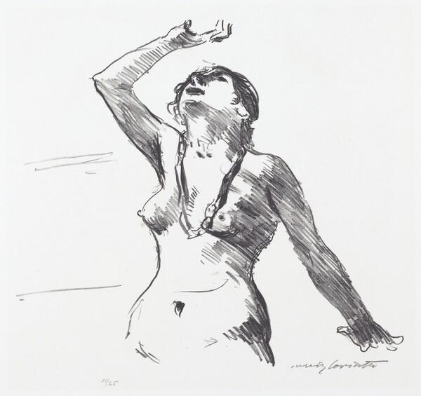 Weiblicher Akt in Abwehr (Female Nude Defending Herself)
