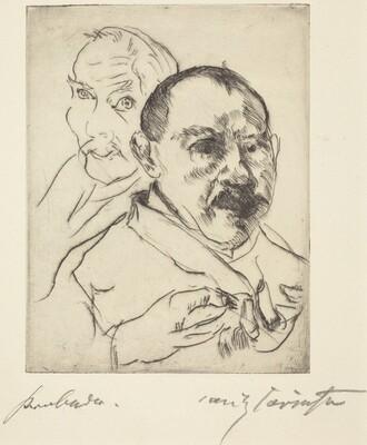 Sketch of Two Male Heads (Self-Portraits) (Zwei Männliche Studienköpfe (Selbstbildnisse))