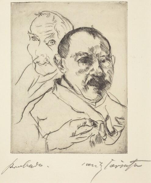 Zwei Männliche Studienköpfe—Selbstbildnisse (Sketch of Two Male Heads—Self-Portraits)