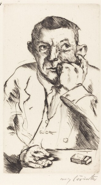 Männliches Bildnis mit Aufgestütztem Arm (Portrait of a Man Smoking)