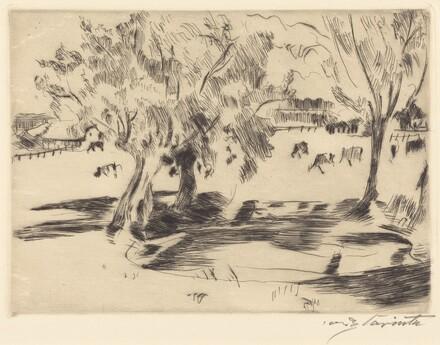 Landscape with Cows (Landschaft mit Kühen)