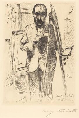 Self-Portrait with Easel (Selbstbildnis an der Staffelei)