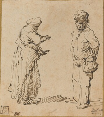 Beggar Man and Woman