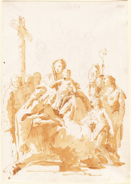 The Virgin and Child Adored by Bishops, Monks, and Women