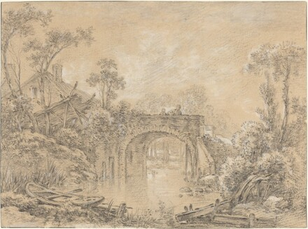 Landscape with a Rustic Bridge