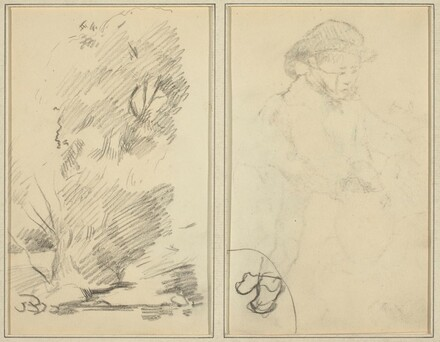 Trees; Sketch of Breton Boy [verso]