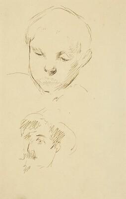 Profile of a Boy and Self-Portrait [recto]
