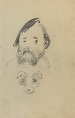 Head of a Bearded Man with a Head of a Dog [recto]