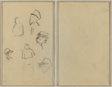Four Heads and Two Figures [verso]