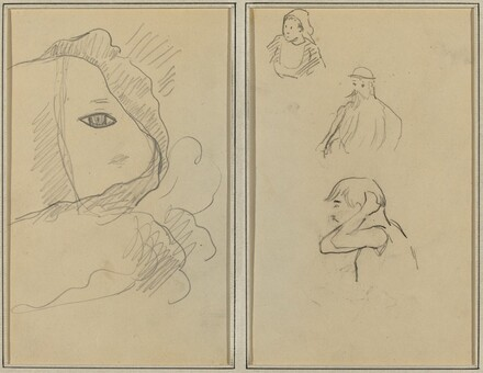 Eye and Part of Face; A Breton Woman and Two Men [recto]