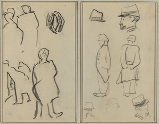 Figure Studies; Studies of Soldiers [verso]
