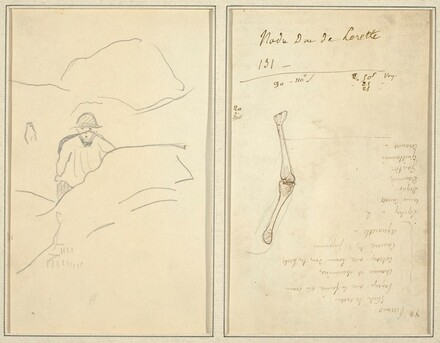 Breton Boy in a Landscape; Study of an Arm [verso]