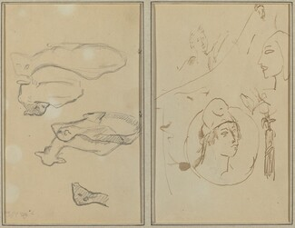 Five Sheep; Four Head Studies [verso]