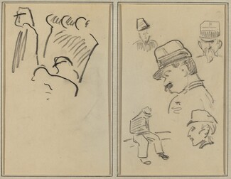 Soldiers; Four Soldiers and a Seated Figure [verso]