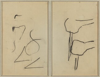Scribbles; Two Shapes [verso]