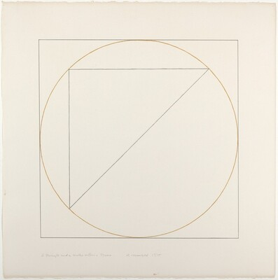 A Triangle and a Circle within a Square