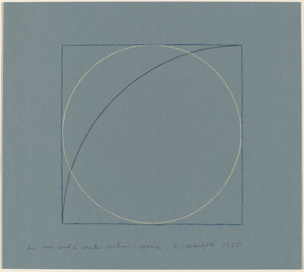 An Arc and a Circle within a Square