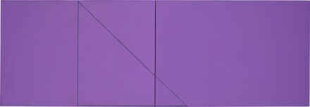 A Triangle within Two Rectangles Violet