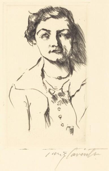 Bildnis einer Jungen Dame—Anneliese Halbe (Portrait of a Young Woman—Anneliese Halbe)