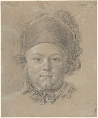 A Boy Wearing a Military Cap