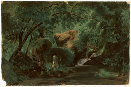 Forest Interior with a Painter, Civita Castellana