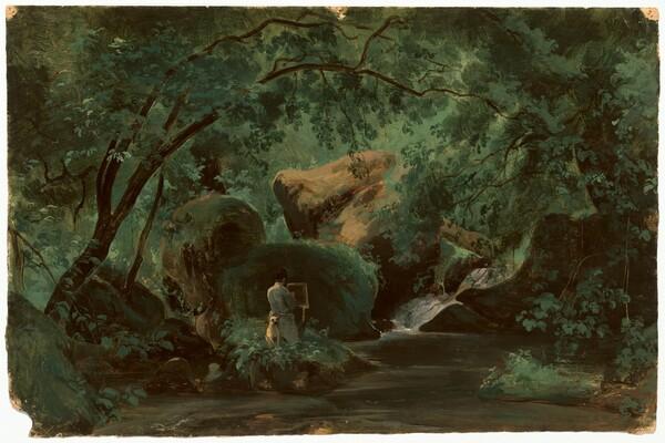Forest Interior with a Painter, Civita Castellana