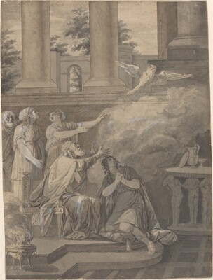 Pallas Athene in the Form of a Bird Leaving Nestor and Telemachus