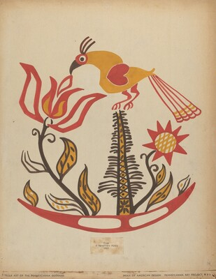 Drawing for Plate 14: From the Portfolio Folk Art of Rural Pennsylvania
