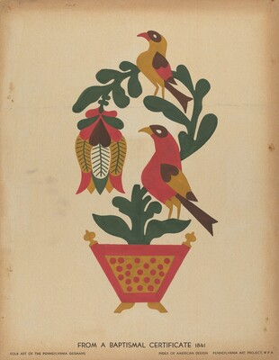 Drawing for Plate 12: From the Portfolio Folk Art of Rural Pennsylvania