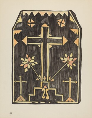 Plate 46: Straw Applique Design: From Portfolio Spanish Colonial Designs of New Mexico