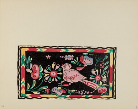 Plate 44: Painted Chest Designs: From Portfolio Spanish Colonial Designs of New Mexico