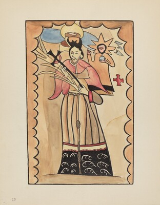 Plate 40: St. John Nepomuk: From Portfolio Spanish Colonial Designs of New Mexico