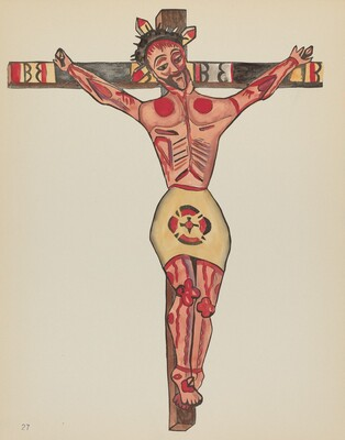 Plate 27: Christ Crucified: From Portfolio Spanish Colonial Designs of New Mexico