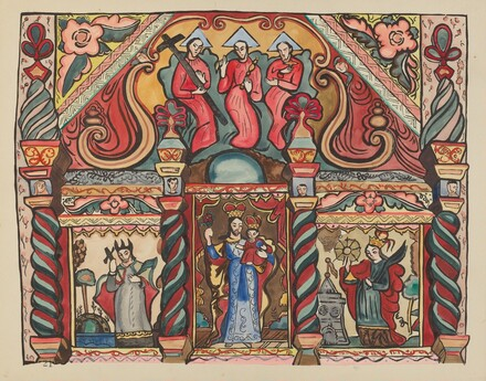 Plate 21: Main Altarpiece: From Portfolio Spanish Colonial Designs of New Mexico