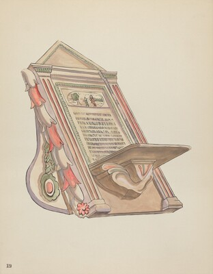 Plate 19: Reading Stand: From Portfolio Spanish Colonial Designs of New Mexico