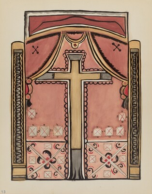 Plate 13: Designs with Cross, Chimayo: From Portfolio Spanish Colonial Designs of New Mexico