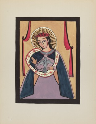 Plate 11: Annunciation: From Portfolio Spanish Colonial Designs of New Mexico