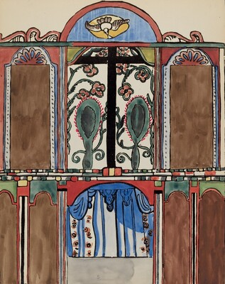 Plate 5: Main Altarpiece, Santa Cruz: From Portfolio Spanish Colonial Designs of New Mexico