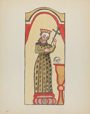 Plate 12: Saint Rita: From Portfolio Spanish Colonial Designs of New Mexico