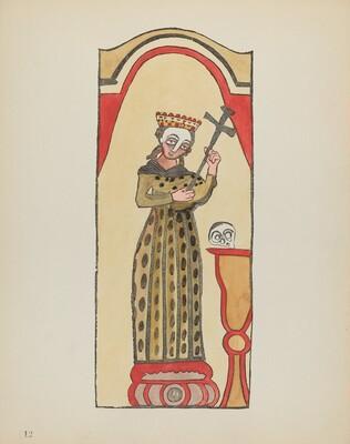 Plate 12: Saint Rita: From Portfolio Spanish Colonial Designs of New Mexico