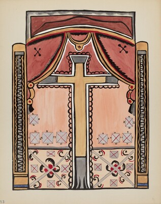 Plate 13: Design with Cross, Chimayo: From Portfolio Spanish Colonial Designs of New Mexico