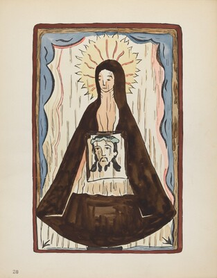 Plate 20: Saint Veronica: From Portfolio Spanish Colonial Designs of New Mexico