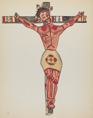 Plate 27: Christ Crucified, Mora: From Portfolio Spanish Colonial Designs of New Mexico
