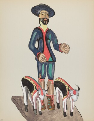 Plate 30: Saint Isidore: From Portfolio Spanish Colonial Designs of New Mexico